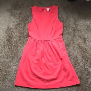 J Crew Factory coral sleeveless dress